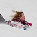 mia-sledding-into-deep-snow